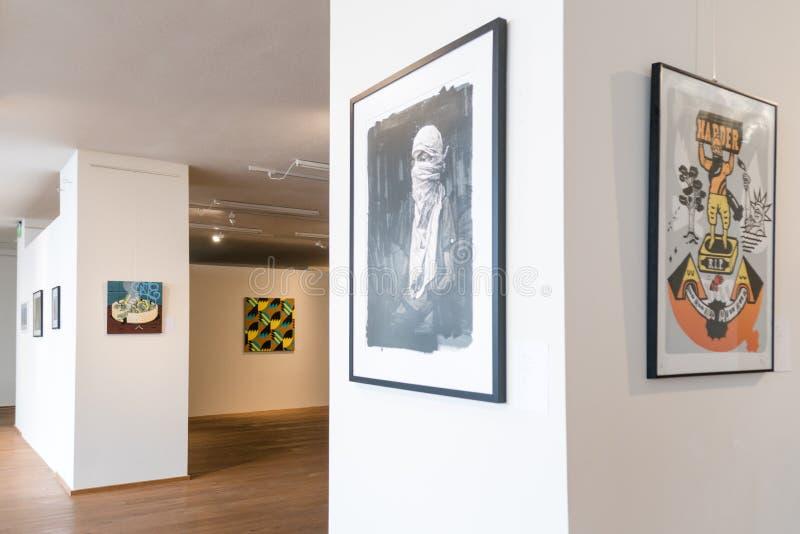 Poolse Stedelijke Kunsttentoonstelling stock afbeeldingen