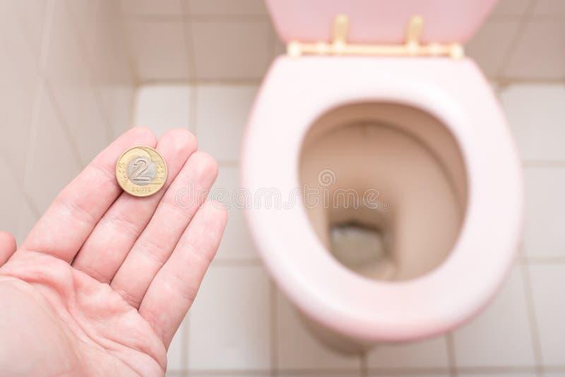 Poolse toiletkosten stock foto