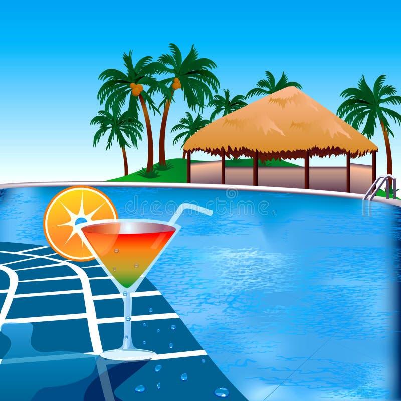 Poolside ilustração stock