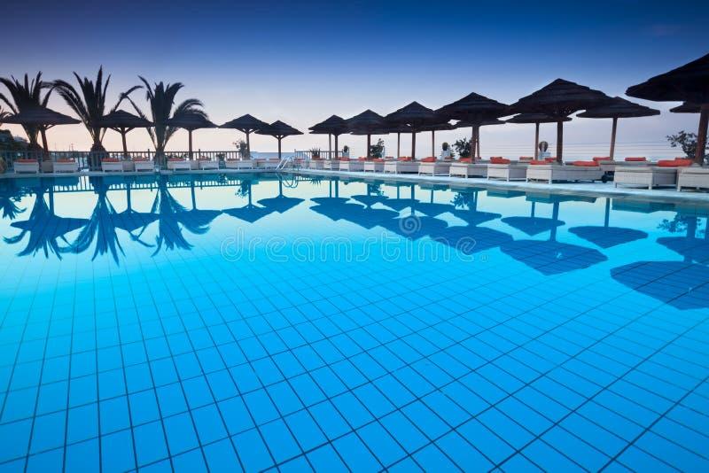 Download Poolside stock photo. Image of water, mykonos, still - 26924192