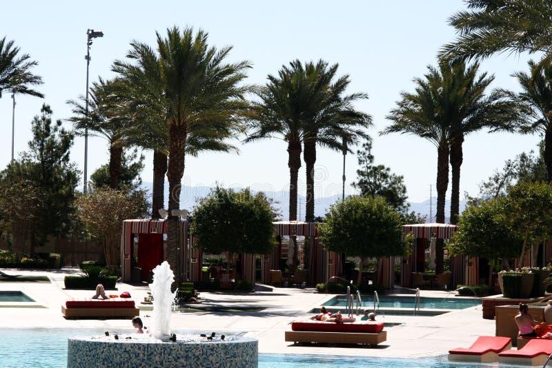 Poolside Las Vegas, Nevada przy Czerwoną Rockową austerią zdjęcia royalty free