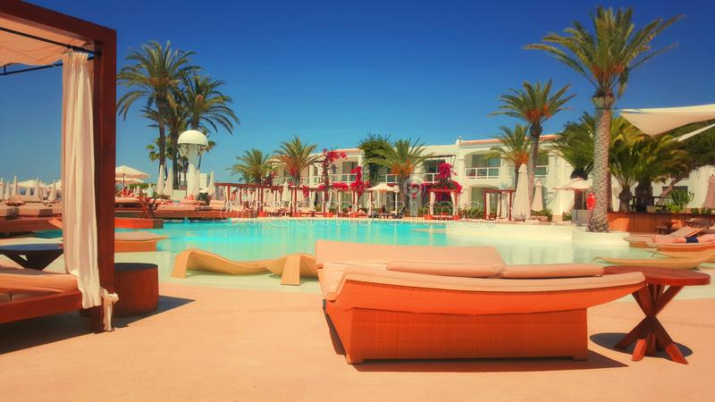 Poolside At Luxury Resort Free Public Domain Cc0 Image