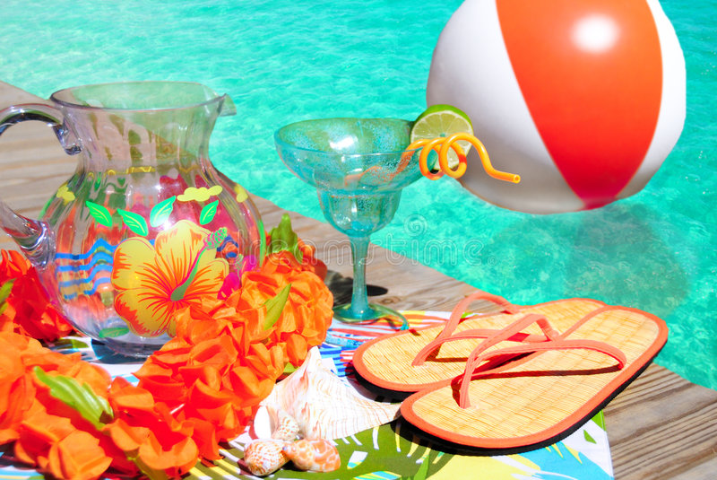 Poolside party royalty free stock photos