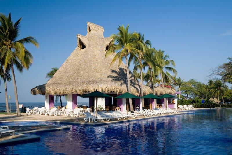 Poolside restaurant royalty free stock image