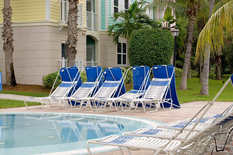 Download Poolside Sunbeds Stock Photography - Image: 1908532