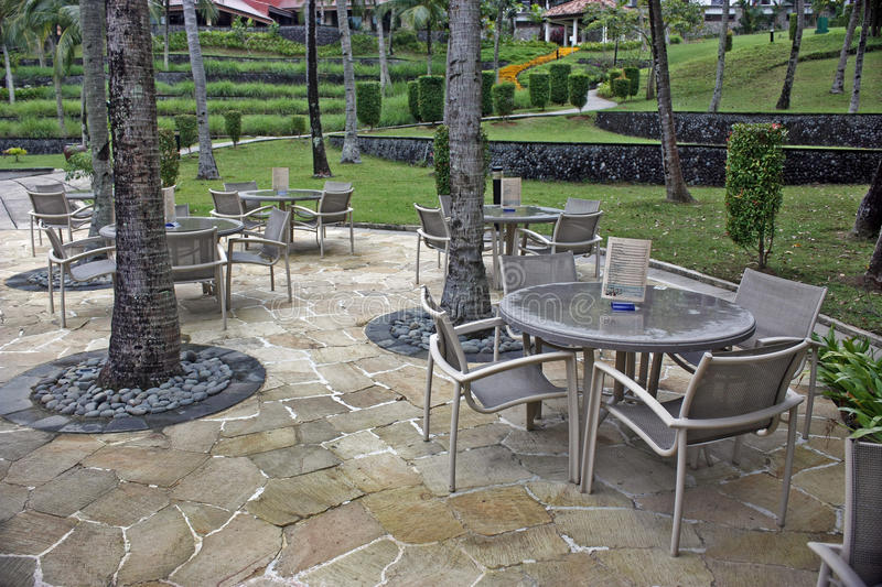 Download Poolside tables stock image. Image of bistro, escape - 17559179