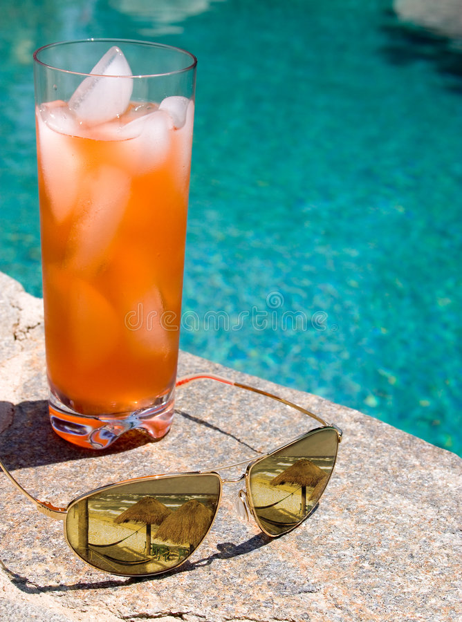 Poolside Visions royalty free stock photos