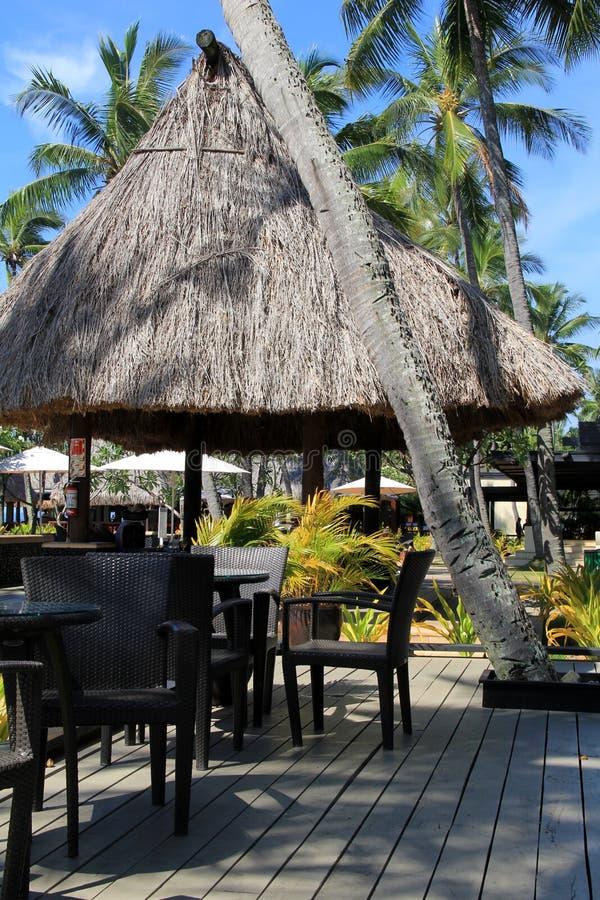 Poolsideområde, Westin Denarau ösemesterort och Spa, Fiji, 2015 arkivbild