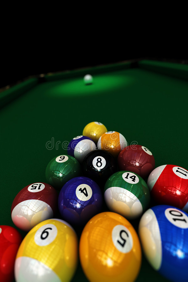Poolspiel stock abbildung