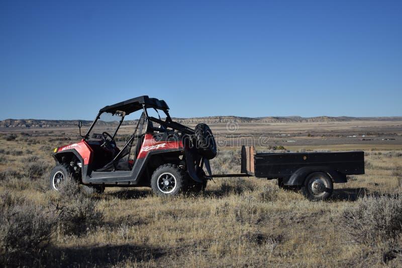 Poolsters RZR in Thermopolis, Wyoming stock afbeeldingen