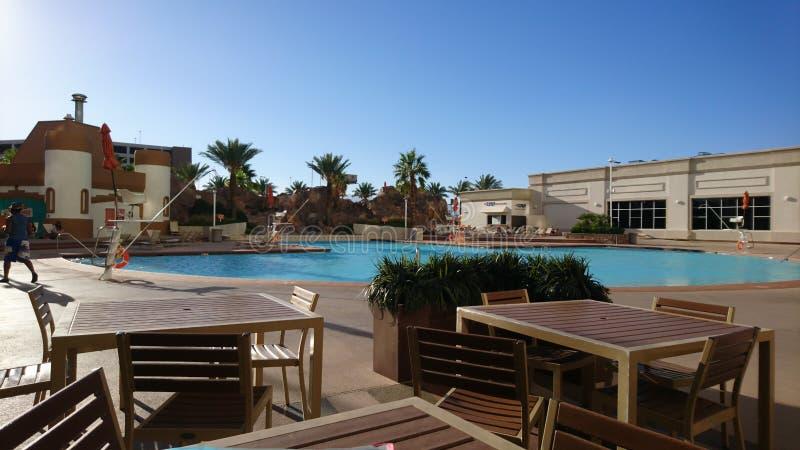 Poolview στο ξενοδοχείο Camelot, Λας Βέγκας στοκ εικόνες