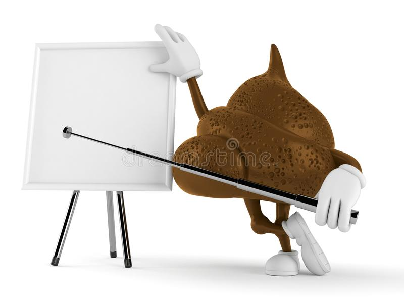 Download Poop Character With Blank Whiteboard Stock Illustration - Illustration of space, illustration: 118403304