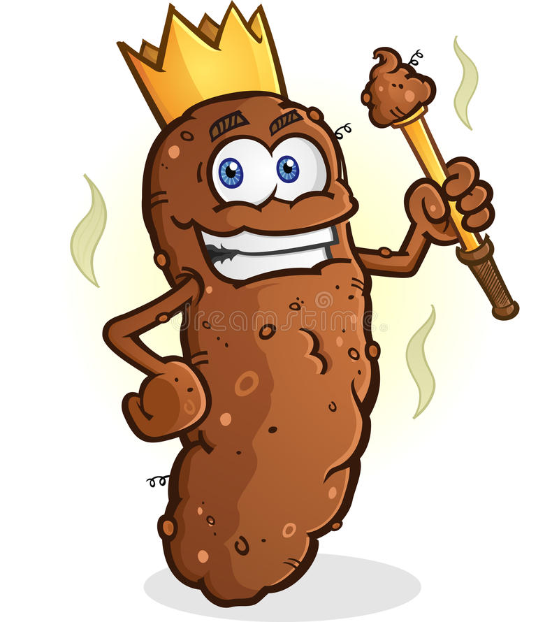 Poop King Cartoon Character Stock Vector Illustration Of