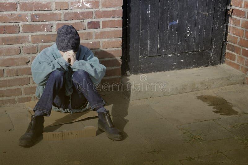 Poor boy stock image