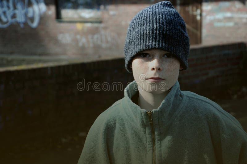 Poor boy stock photography
