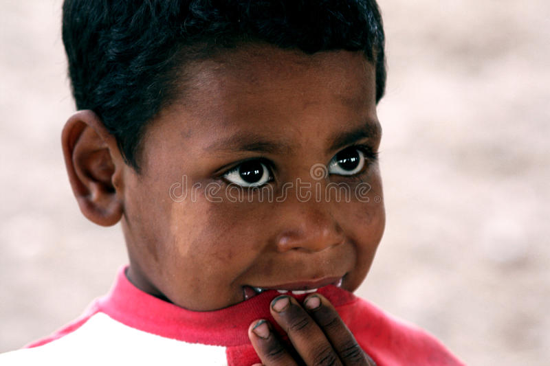 Poor happy boy in egypt royalty free stock images