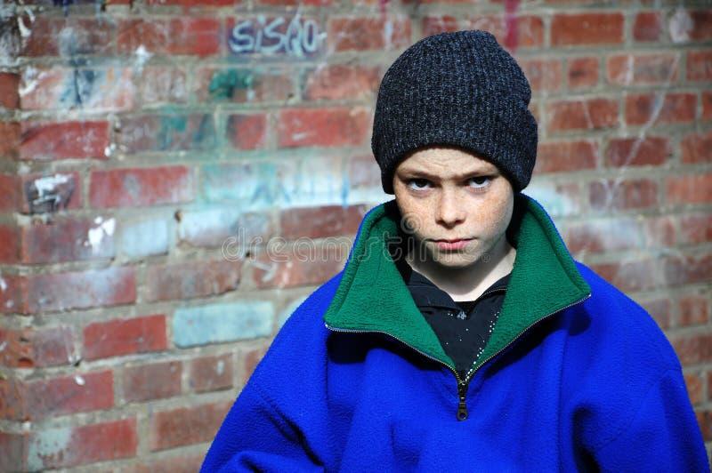 Poor boy stock photo
