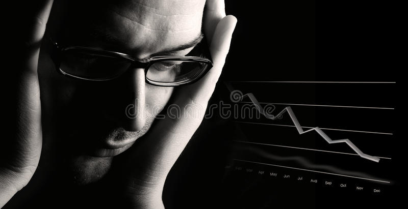 Poor business outlook stock photos
