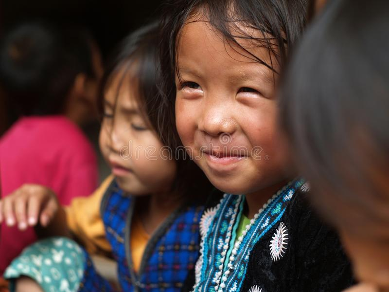 Poor children,smile. CHIANG MAI, THAILAND - NOV. 21: Poor children in countryside on November 21, 2008 in Chiang Mai, Thailand stock photos