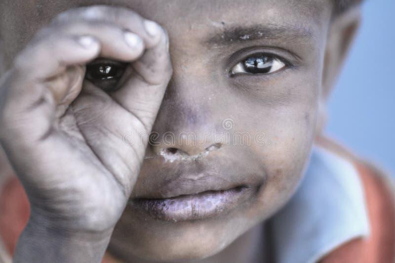 Poor children from Stakmo village. Leh, Ladakh. India stock photos