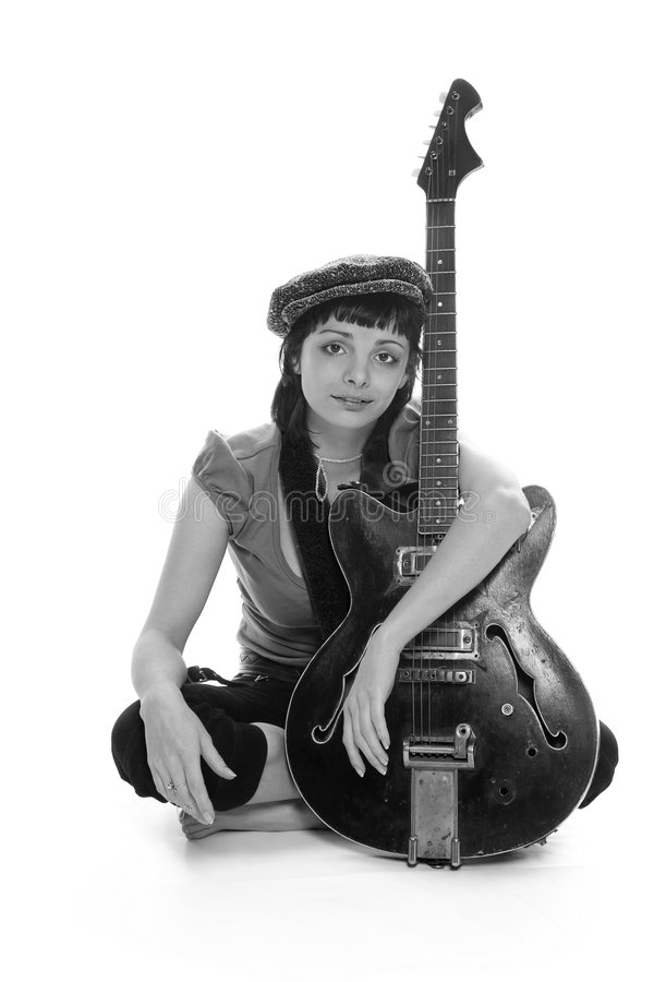 Download The poor girl the musician stock photo. Image of beggarly - 2349456