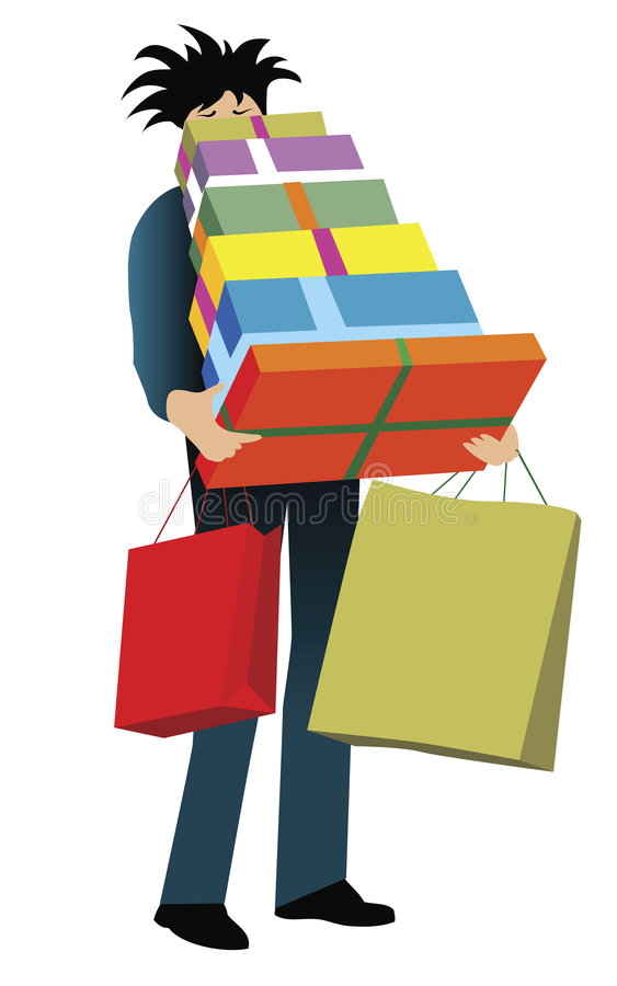 Download Poor guy stock vector. Image of husband, shopping, vector - 1892851