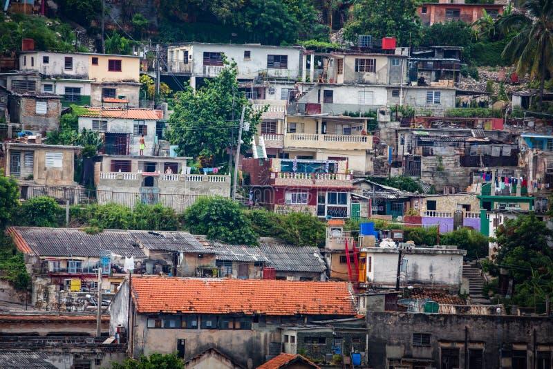 Poor hillside neighborhood stock photography