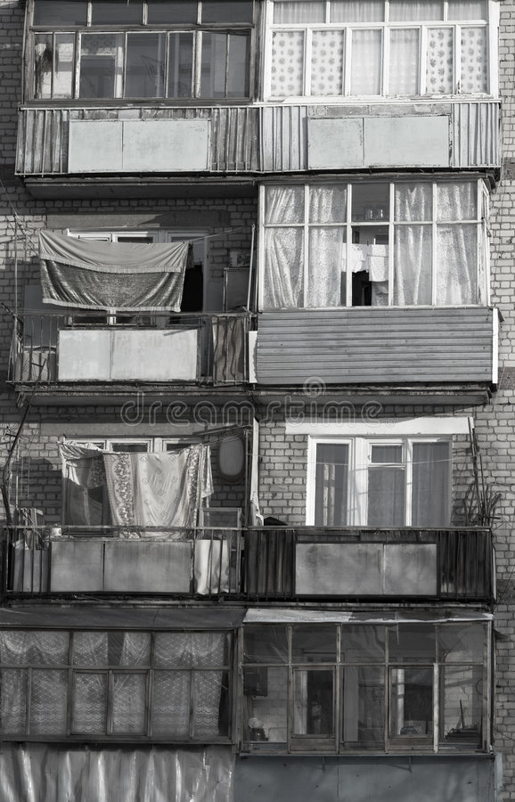 Poor house. In Russia royalty free stock images