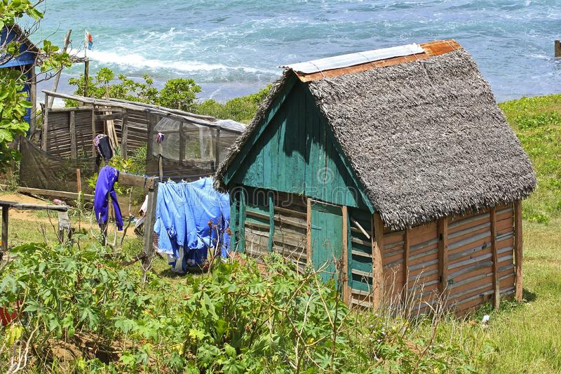 Poor house in Madagascar, Africa royalty free stock images