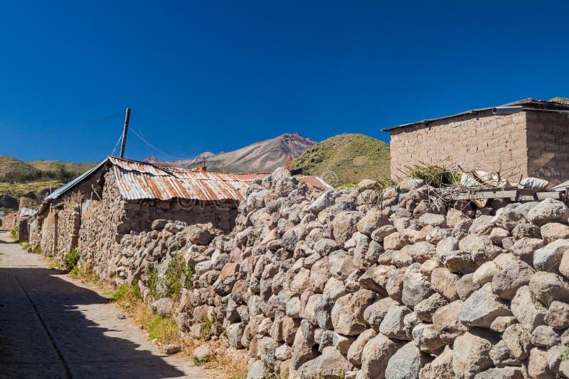 Poor houses in Cabanaconde village stock photos