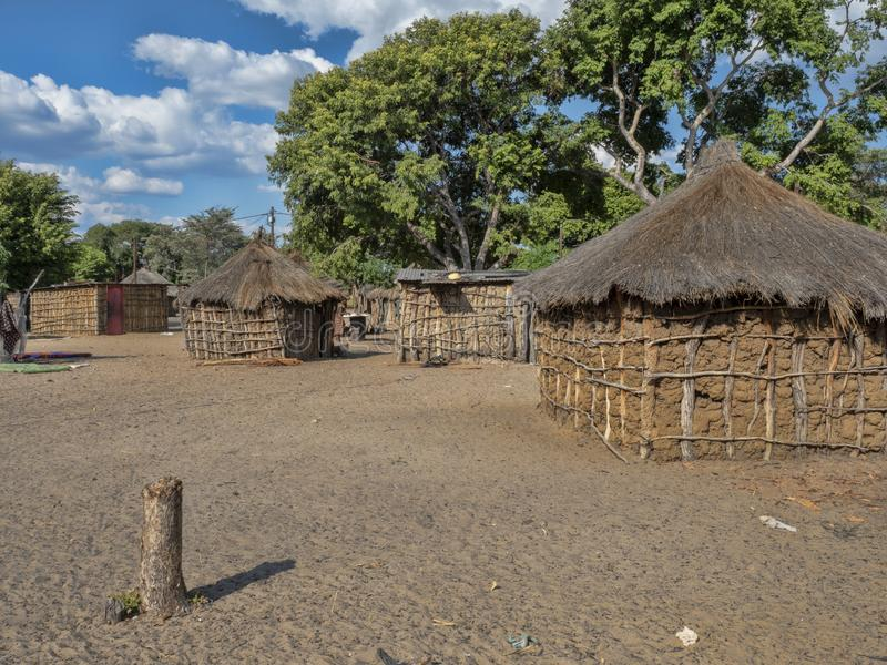 Poor hut of the natives,, Damaraland, Namibia royalty free stock images