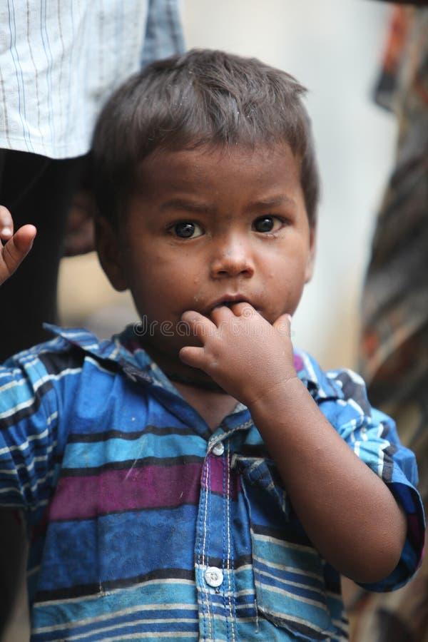 Poor Indian Boy stock image