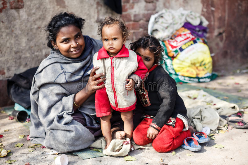 Poor Indian family royalty free stock photography