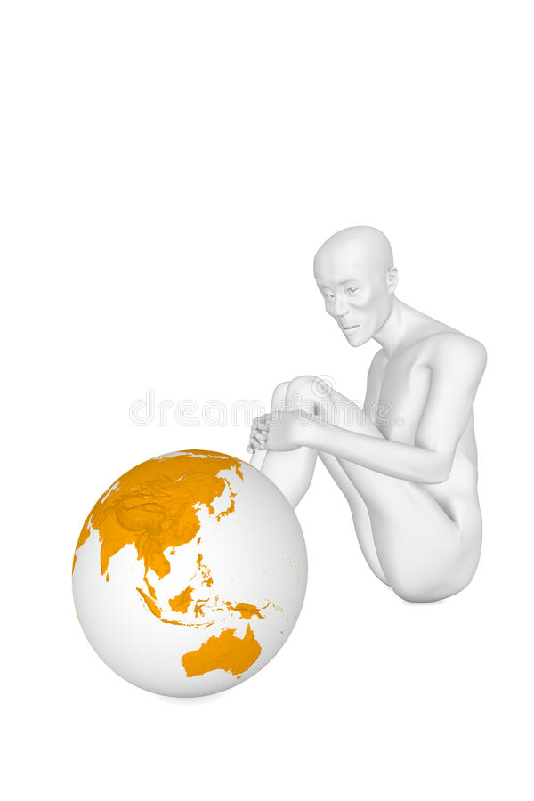 Download Poor man stock illustration. Image of depression, ascetic - 11758766