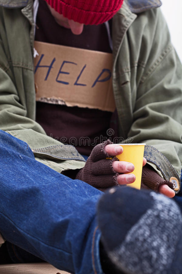 Poor man begging for a help stock photos