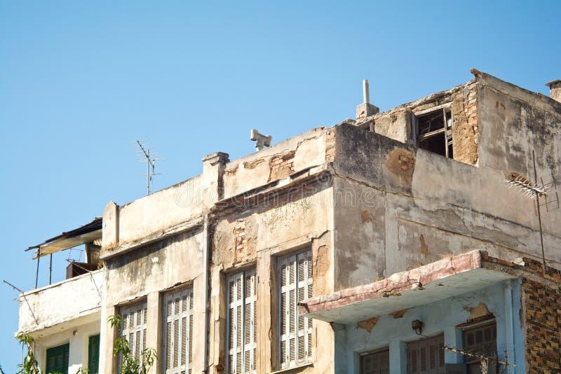 Poor neighborhood. Photo of old buildings in a poor neighborhood royalty free stock image