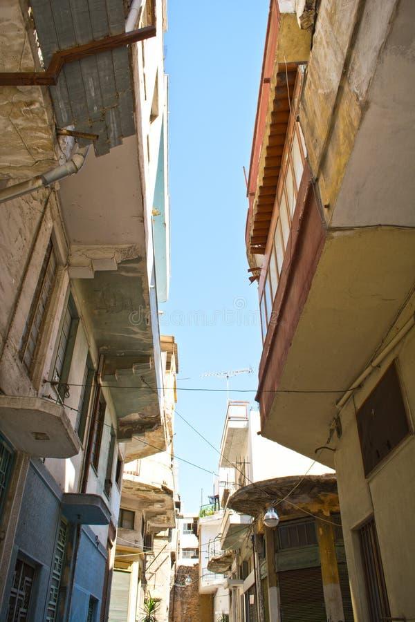 Poor neighborhood. Photo of old buildings in a poor neighborhood royalty free stock images