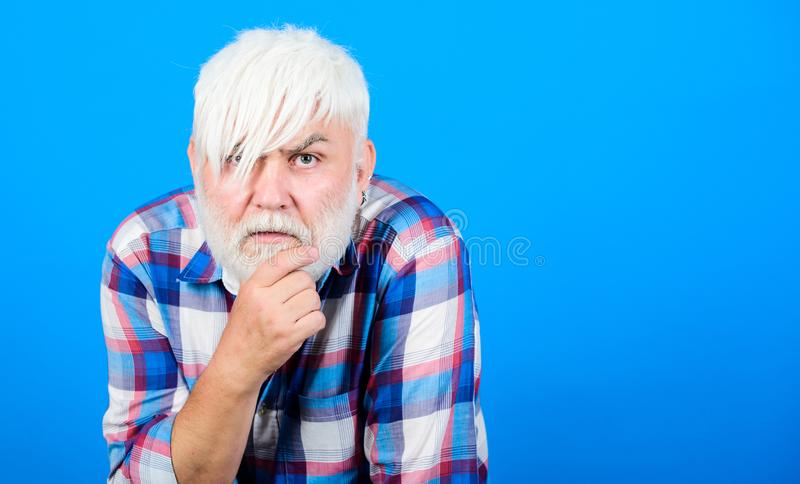 Poor old man. senior man with gray beard. health care. unhappy old granpa. grandfather on retirement. mature bearded man stock images