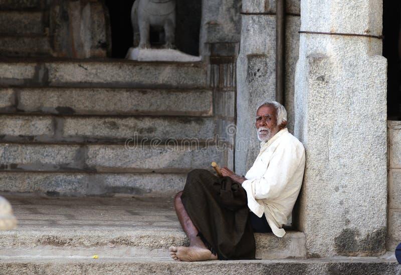 A Poor Old Man In Slum Editorial Photo