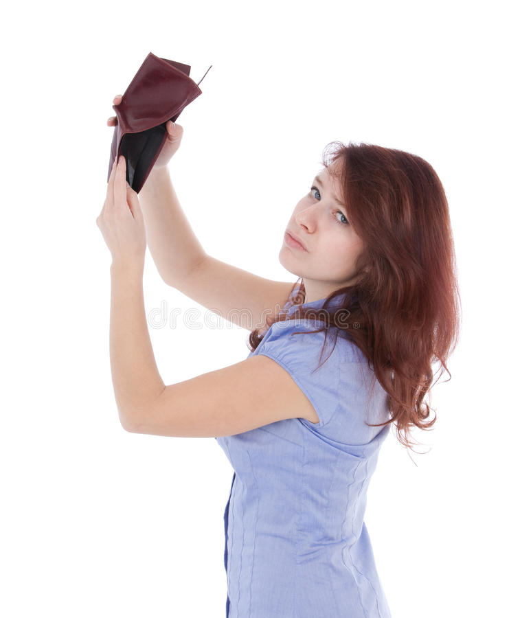 Poor penniless girl royalty free stock images