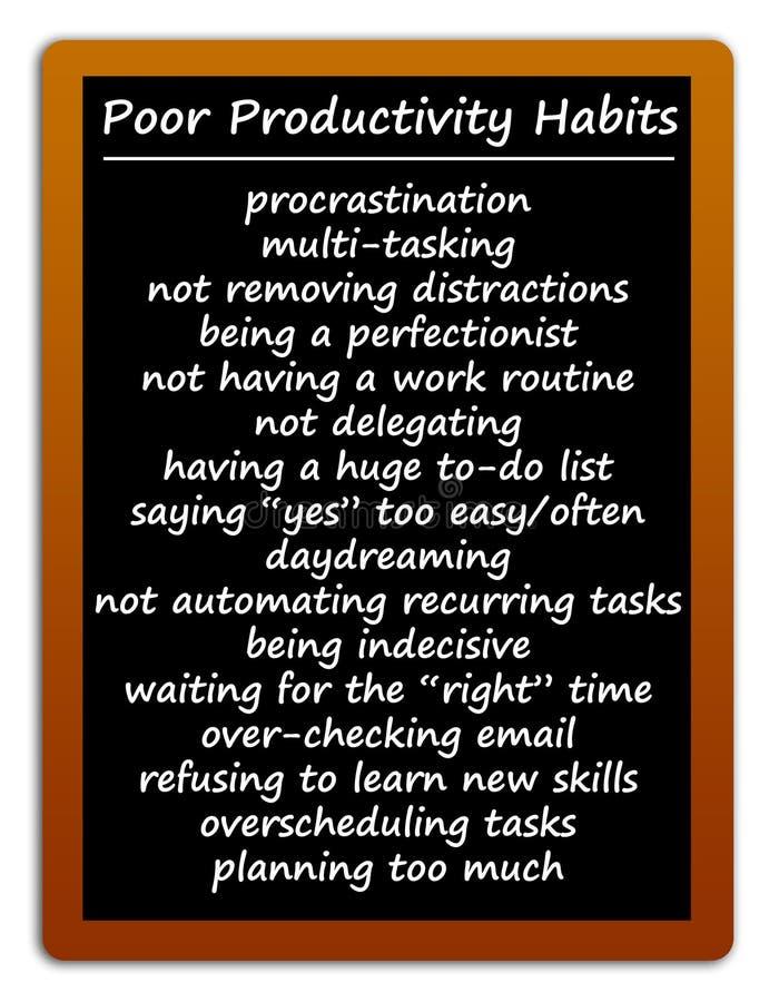 Free Poor Productivity Habits Royalty Free Stock Photography - 212689777