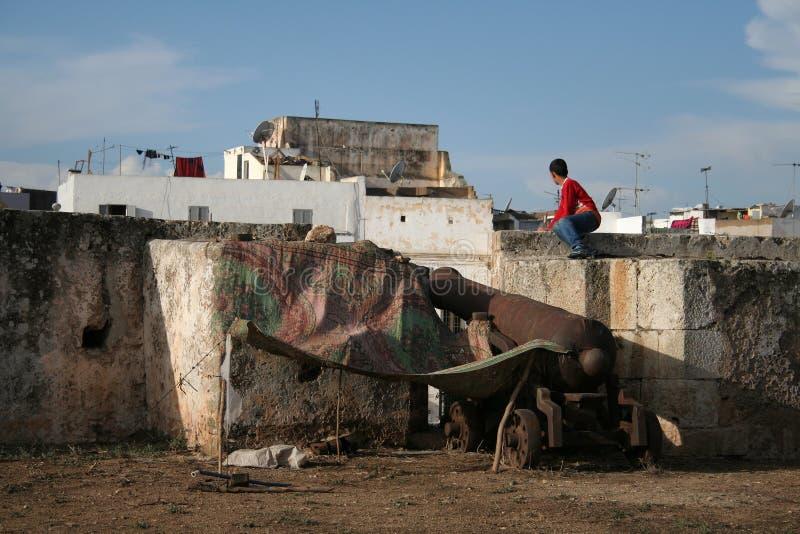 Poor quarter. Buildings in poor quarter in El Jadida (Morocco royalty free stock photo