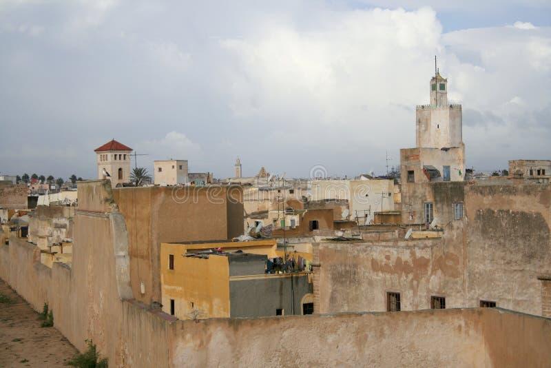 Poor quarter. Buildings in poor quarter in El Jadida (Morocco royalty free stock photography