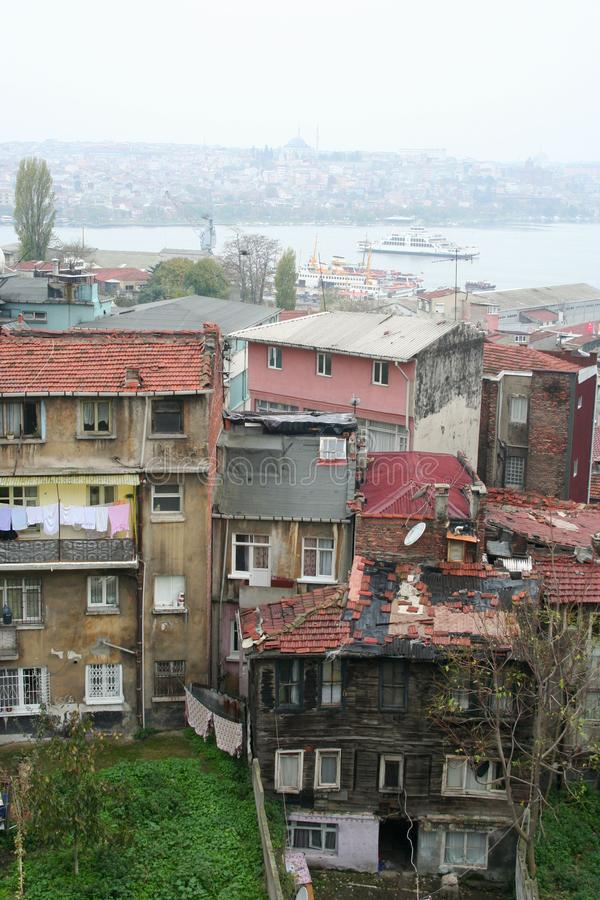 Poor rural settlements in istanbul, turkey. royalty free stock photos