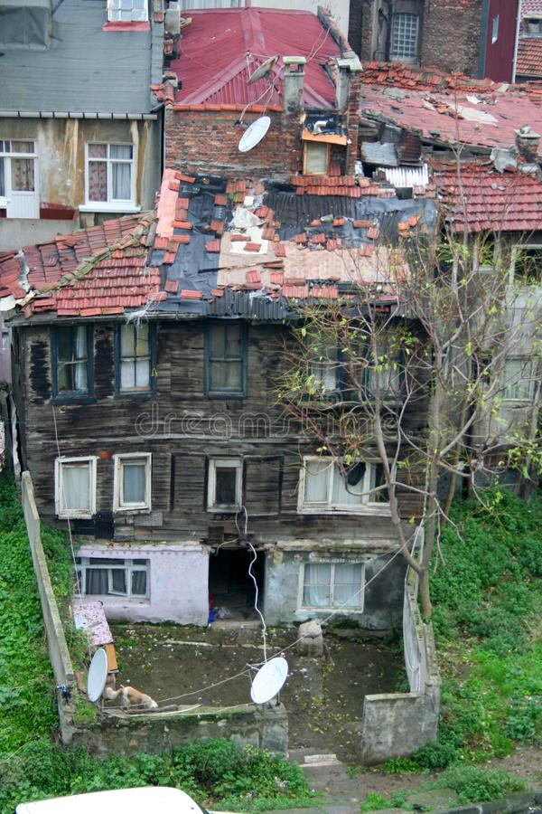 Poor rural settlements in istanbul, turkey. stock photo