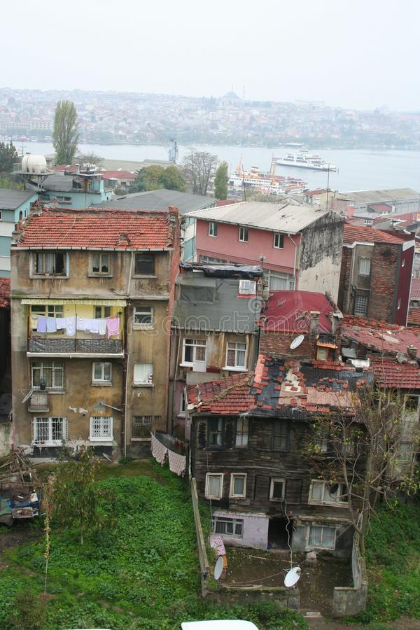Poor rural settlements in istanbul, turkey. royalty free stock images