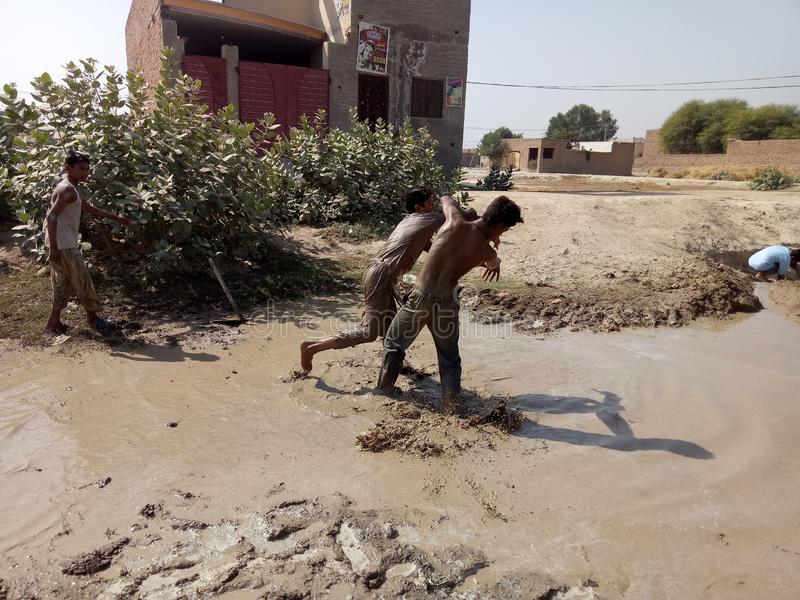 Poor Sanitary Condition. There is a very bad sanitary condition in our locality. The sweepers do not turn up for cleaning the area for days. Our complaints to royalty free stock photography