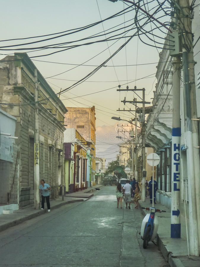 Poor Zone in the Outsides of Santa Marta Colombia royalty free stock photos