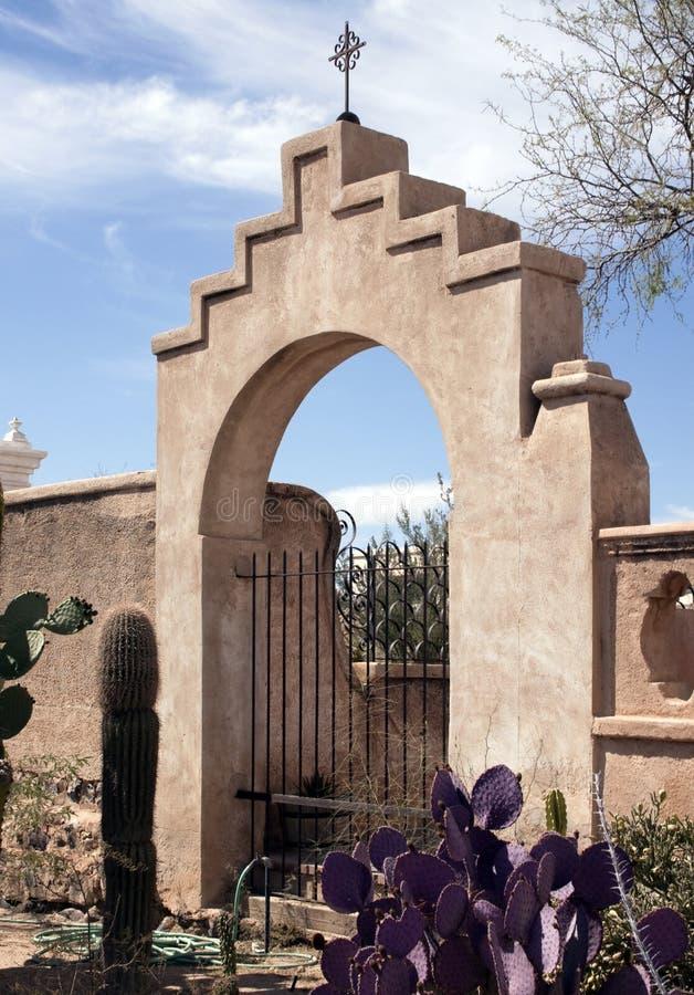 Poort aan San Xavier del Bac Mission royalty-vrije stock afbeeldingen