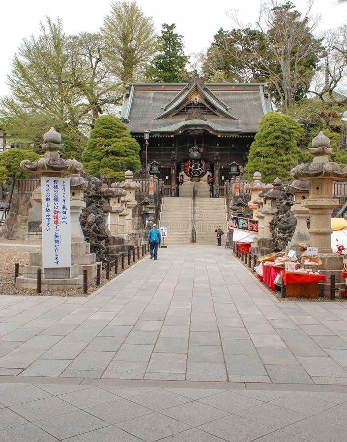 Poort nio -nio-mon bij narita-San Shinsho -shinsho-ji, Japan stock foto's